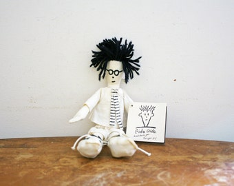 "vintage 1980s Fido Dido Fabric Doll w/Original Tag 10"" Doll"