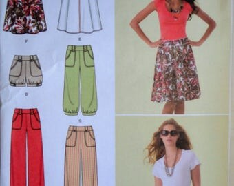 Simplicity 2367 Sewing Pattern, Misses' Pants, Capri Pants, Shorts and Skirt, Size 6-8-10-12-14, Uncut FF, Spring Summer Fashion
