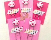 Fabric Button Bookmark, Planner Clip, Planner, Giant Bookmark, Planner Supply, School Supply, Teacher Gift, Office Supply