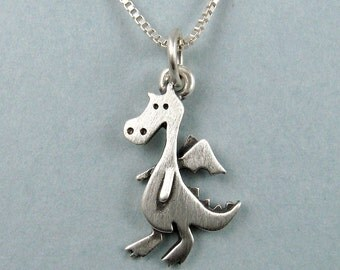 Tiny dragon necklace / pendant