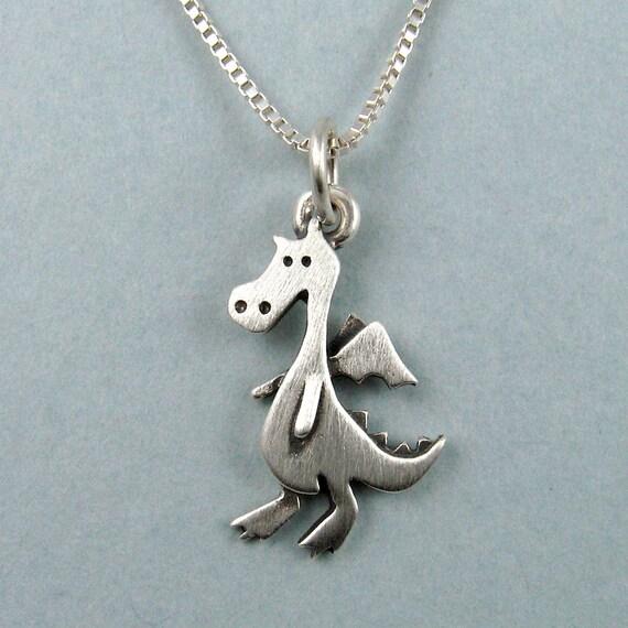 Tiny dragon necklace / pendant