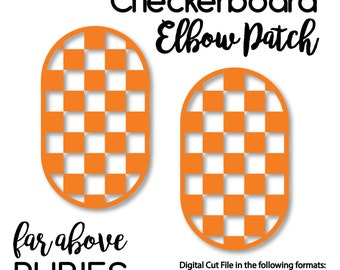 Checkerboard Elbow Patches - SVG, DXF, png, jpg digital cut file for Silhouette or Cricut