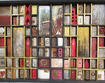 Reclaimed Wood and Metal Assemblage