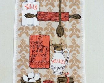 Vintage Towel Gingerbread Cookies in an Old Time Kitchen