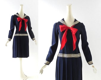 Vintage 20s Dress | Sailor Dress | 1920s Dress | XXXS XXS