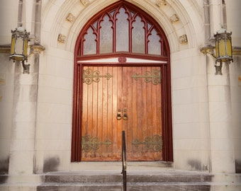 Doors of First Presbyterian Church Virginia Fine Art Print - Travel, Scenic, Landscape, Rural, Nature, Home Decor, Zen