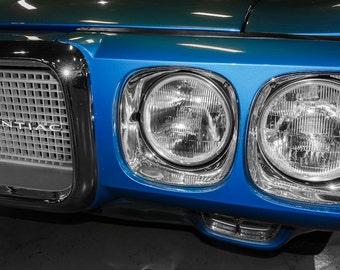 1969 Pontiac Firebird Front End Headlights Car Photography, Automotive, Auto Dealer, Sports Car, Mechanic, Boys Room, Garage, Dealership Art