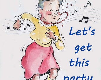 Let's Get This Party Started - 4 Greeting Cards with Envelopes