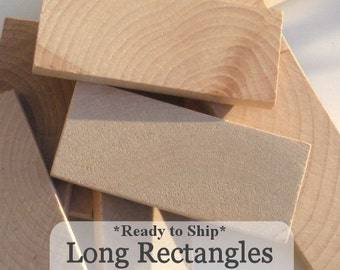 Unfinished Wooden Rectangles 3inchx 1 1/4inch x 1/4inch, Ready to ship, Pack of 50