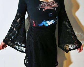 King Diamond Lace Mini Dress
