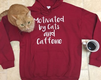 Cat lover gift, Mothers Day, workout, funny sweatshirt, unisex Pullover hoodie, cat shirt, funny tshirts, best friend gift, wife gift, rctee
