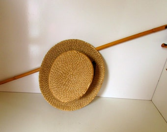 Vintage Crook Cane Bentwood Walking Stick Vintage Bamboo Cane