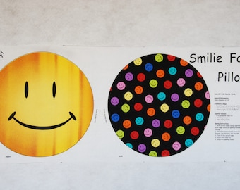 Smilie Face Pillow Panel
