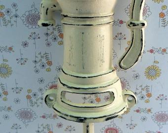 Water Well Pump Cast Iron Industrial Hook Off White Cream Shabby Style Chic Man Cave Leash Jewelry Coat Hat Keys Bathroom Key Towel Hook