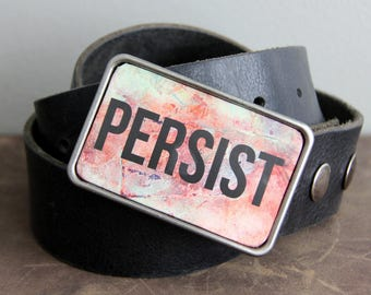 Persist Belt Buckle in Pink