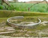 YOUR best is ALWAYS good enough - Affirmation Hand-stamped Aluminium Cuff - Inpirational, Motivational, Gift