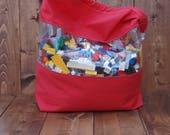 Red Peekaboo Toy Storage Bag Size Large