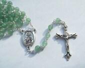 St. Jude Green Aventurine Rosary