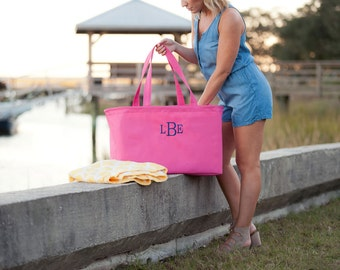 Personalized Utility Tote/Pool Tote/Beach Personalized Bag