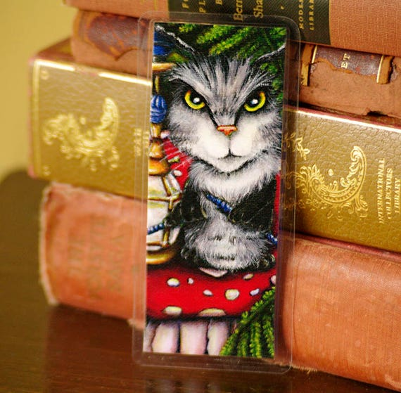 Caterpillar Cat Bookmark Alice in Wonderland Bookmark