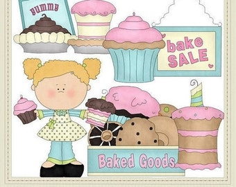 Commercial Use Clipart | Bake Sale set 1 Graphics by Alice Smith