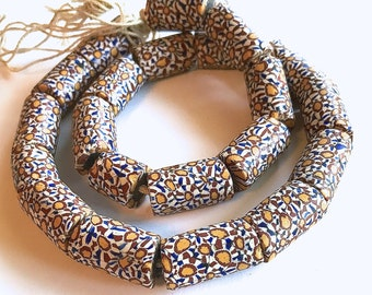 Millefiori Trade Beads, Matched Strand Large Trading Beads, Trade Beads 20 Inch