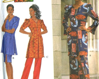 Simplicity 7495 UNCUT Misses Afrocentric Tunic, Skirt and Pants Sewing Pattern by Shanti Size 8-14 Bust 31.5-36