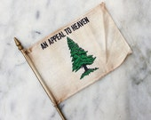 Vintage Miniature Desk Flag / An Appeal to Heaven