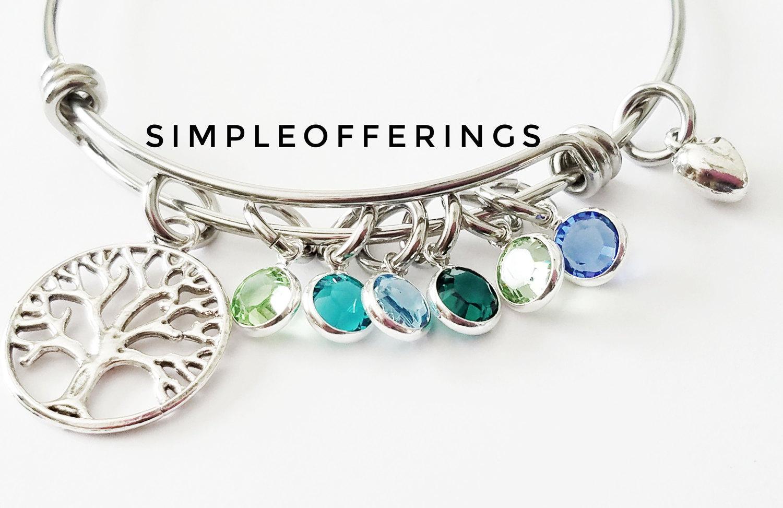 family tree bracelet mothers bracelet tree of bracelet