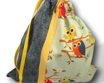 Parliament of Owls - Duet Sheepie, A Multi-skein Knitting Project Bag