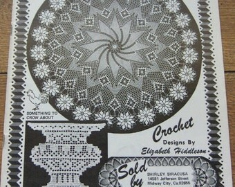 Vintage 70s crochet pattern Elizabeth HIDDLESON volume 30 doilies