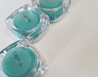 LAGUNA Mineral Make up EYE Shimmer - Eye Shadow, Gift for her, Mica Powder 5ml - Green Blue Shimmer