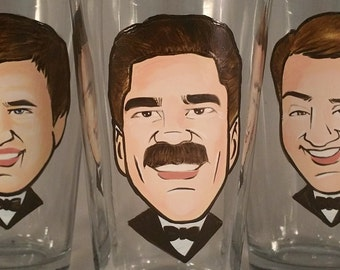 Custom Groomsmen Gift - Original Caricature Beer Mug - Hand Painted Beer Mug