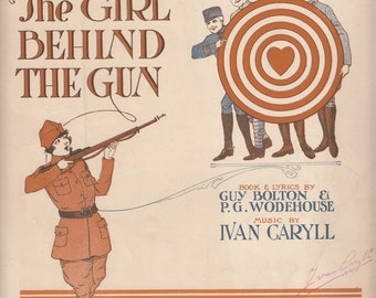 Some Day Waiting Will End 1918 Sheet Music Musical The Girl Behind the Gun