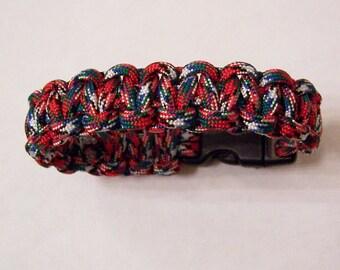 Afghan Veteran paracord survival bracelet