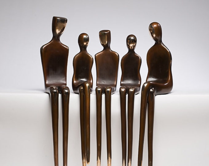 Bronze sculpture, custom family portraits, large statue, outdoor sculptures, art in the park, spectrum art