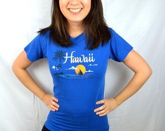 Vintage 80s Hawaii XS shirt Tee Shirt