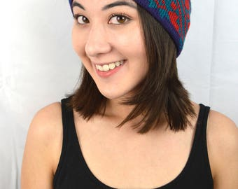 Vintage Winter Ear Warmer Ski Headband - Smiley