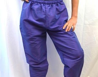 Vintage 80s Iridescent Purple Fancy Pants