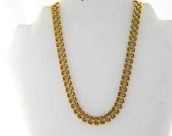Vintage Monet Gold Tone Panther Chain Necklace (N-4-2)