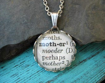 Dictionary Necklace - Mother - Round Pendant