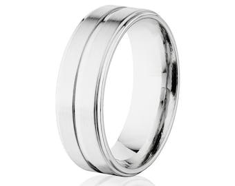 7 mm Aerospace Grade Titanium Wedding Ring: 7RC1G-BR