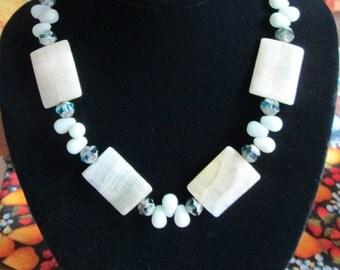 Feminine Mystique Amazonite Diva Necklace - Amazonite Gemstones - Chic and Classy - Versatile - Vacation - Cruise - Gift