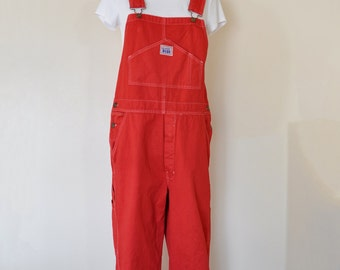 CUSTOM DYED Red Bib Overall Pants - Scarlet Cherry Wine Dyed Adult Youth Overalls Shorts - Waist 30, 32, 34, 36, 38, 40, 42, 44, 46