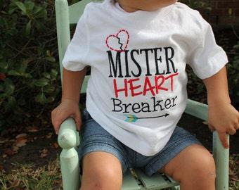 Boys Valentine Shirt - Toddler Boy Valentine Shirt - Boys Valentine Heart Breaker Shirt
