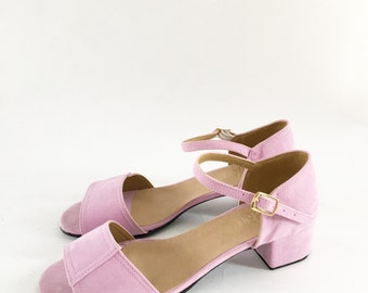 Mary Low Block Heel Sandals (Handmade to order)