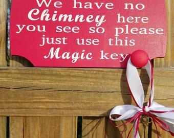 Santa's Magic Key ,Santa Key, Christmas Key , Christmas Decoration, Christmas Door Decoration, Childrens Magic Key for Santa