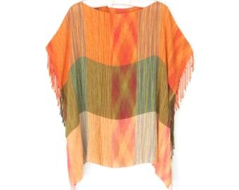 Ikat Top * Ethnic Festival Shirt * Vintage Boho Shirt * Free Size