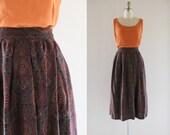 S A L E scarf print midi skirt