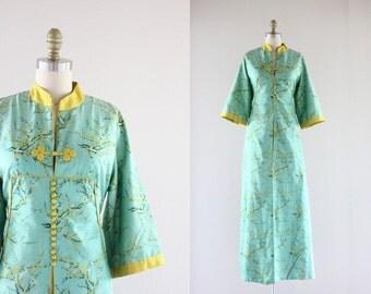c1970's Thai Silk Caftan